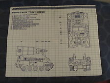 G I Joe ARAH vintage Bridge Layer blueprints only Toss N Cross