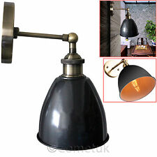Vintage Antique Industrial Bowl Sconce Loft Cofe Rustic Wall Lamp Strair Light