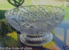 """Crystal Pressed Glass 5"""" x 2½"""" Bowl, Button & Bows"""