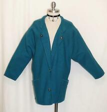 GEIGER ~ BOILED WOOL Women SHORT SLEEVES Austria WARM Cardigan Sweater JACKET L