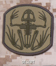 SKELETON FROG MAN DESERT TACTICAL COMBAT BADGE MORALE PVC MILITARY PATCH