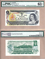 1973 $1 Bank of Canada Multi Color Million Serial# Note 6000000 PMG CH UNC63 EPQ