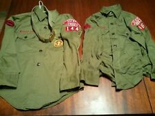 VINTAGE BOY SCOUTS OF AMERICA SHIRTS BOYS SIZE 12.5 reg & small OXFORD MISS.