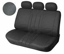 Leather Like Rear Seat Cover Zip Type For 60/40 Full Split solid Black