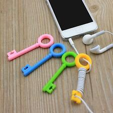 10x Key Bone Earbud Cable Wire Cord Organizers Holders Winders For Earphone