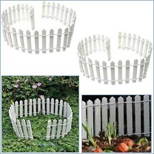 Wood Picket Fence Panel Garden Home Planter Care Outdoor Yard Decor Lawn Fairy