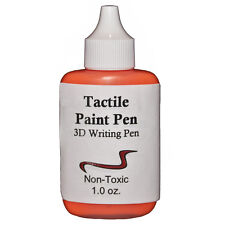 Tactile Paint Pen - Orange, Low Vision, Blind Users, Dry's w/ Texture
