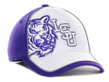 LSU TIGERS NCAA LICENSED Top of the World NCAA White Purple Flexfit Cap Hat L/XL