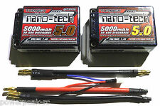 Turnigy Nano-Tech 5000mAh 2s 7.4v 30c 60c Saddle Pack LiPo - Free Deans HPI