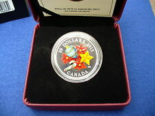 Venetian Glass Holiday Season with Candy Cane - 1oz Silver Coin 2013 Canada 20$