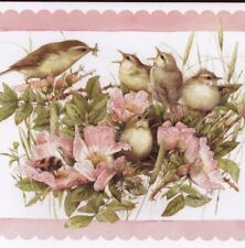"VIREO,WARBLER BIRDS,ROSES,""GOD PICKS UP CARES"",MARJOLEIN BASTIN,GREETING CARD"