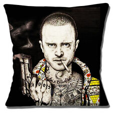 "BREAKING BAD JESSE PINKMAN TATTOOS 'I'M A BLOWFISH' 16"" Pillow Cushion Cover"