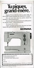 Publicité Advertising 1973 La Machine à coudre Bernina