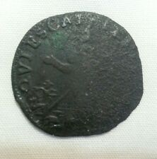 saint patrick us colonial farthing fine details corroded legal tender New Jersey