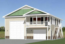 36x40 Apartment with 1-Car 1-RV Garage -- PDF Floor Plan -- 901 sqft -- Model 1A