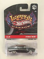 HOT WHEELS 2009 LARRY'S GARAGE 57 CHEVY BEL AIR CHASE INITIALS 9/20 REAL RIDERS