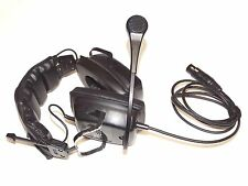 Telex RTS PH-2 Double Headset w 4 pin XLR fits BP 1000 2000 Clear-Com RS 501 502