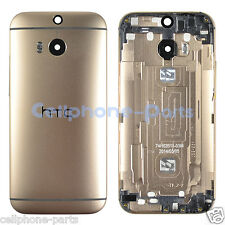OEM HTC One M8 831C Back Cover Housing with Camera Lens & Buttons Keys Gold