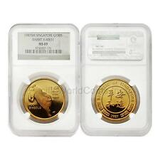 Singapore 1987 Year of Rabbit X-MB31 100S Gold NGC MS69