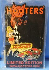 HOOTERS SEXY RACE FLAG GIRL TULSA OK LAPEL PIN - DUNE BUGGY/CHILI BOWL/HOOTIE