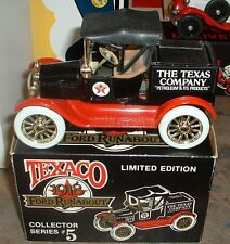 Texaco #5 '88 Ertl 1918 Ford Runabout Truck Bank