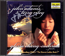 John ADAMS Signed ADAMS & Terry RILEY: Piano Music GLORIA CHEN-COCHRAN CD TELARC