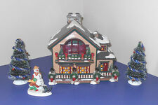 "Dept 56 ""CHRISTMAS LAKE CHALET"" Gift set #56.55061 SNOW VILLAGE NICE w TREES"