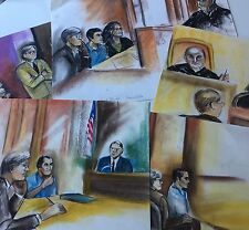 Courtroom Drawings Millennium Bomber Ahmed Ressam 1999/2000 Terrorism