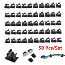 50Pcs Self-Adhesive Adjustable Car Cable Wire Adjustable Clips Fastens Organizer