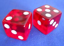 Monopoly The .com Dot Com Translucent Red Dice Replacement Game Part Piece 2000