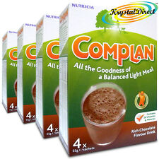 4x Nutricia Complan Chocolate Flavour Vitamin Mineral Energy Drink 4 Sachets