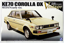 Aoshima 09840 KE70 Toyota Corolla DX Sedan Early Ver. 1/24 scale kit