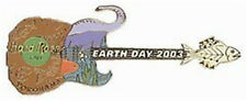 Hard Rock Cafe YOKOHAMA 2003 EARTH DAY PIN - Animals Guitar - HRC Catalog #18213