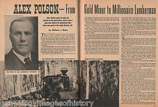 Alex Polson -Gold Miner To Lumberman, Family: Emerson, Folsom, Gray, Simpsion,