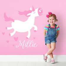 Custom Unicorn Magical Girl Horse Princess BEDROOM Wall Sticker Decal Decor
