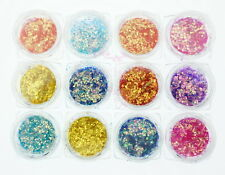 Mermaid Fish Scale Paillette Sequins Glitter Chameleon Hexagon Nail Art Manicure
