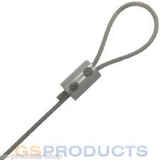 2mm-3mm STAINLESS STEEL Wire Rope Loop Clamp Grip DIY Eyelet Allen Key FREE P+P