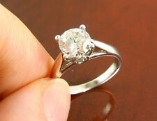 """AGS 1.03 CT SI2/J Round Diamond Engagement Ring """" IDEAL CUT """" ( CERTIFIED )"""