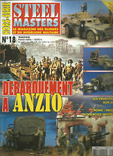 STEEL MASTERS HS N° 18 ANZIO / PANTHER A / SDKFZ 251/9 / GMC / AUTO BLINDA AB41