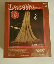 "NEW Vtg Lasetta Ombre AFGHAN Kit 38"" x 66"" #L01 National Yarn Crafts Complete"