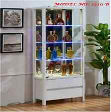 brand new Glass & wood Display Cabinet Show Case Storage wall Display Cabinet