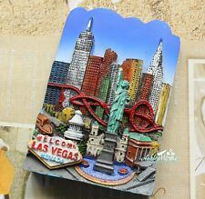 Las Vegas, Nevada, United States, Tourist Travel Souvenir 3D Resin Fridge Magnet