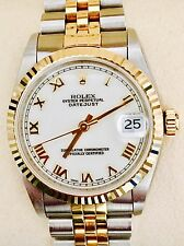 Rolex Datejust 68273 31mm  Stahl Gold Medium Wie Neu NOS Box Papiere