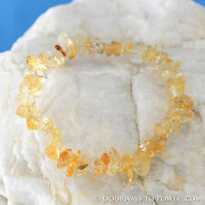 John of God Citrine Quartz Abundance Crystal Energy Bracelet