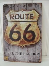 BRAND NEW ROUTE 66 DISTRESSED ANTIQUE STYLE LOOK METAL SIGN