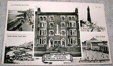 Vintage Welbeck Hotel Queen's Promenade, Blackpool, England Real Photo Postcard