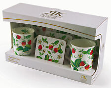 Roy Kirkham Alpine Strawberry Twin Bone China Mug & Single Melamine Tray Set