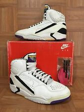 RARE�� Nike Air Flight Lite 2 II White Black Gold 1992 Sz 10.5 130009-111 Retro