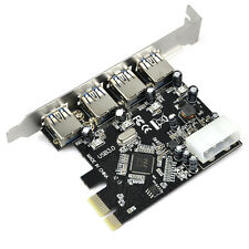 FAST USB 3.0 PCI-E PCIE 4 PORTS Express Expansion Card Adapter ED