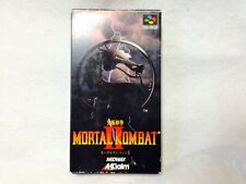 Complete! Mortal Combat 2 Super Famicom SNES Nintendo Japan Video Game